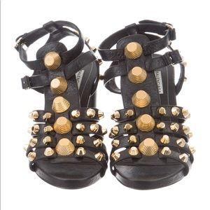 Balenciaga Arena Cage Black Heels size 8